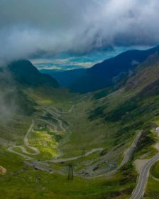 transfagarasan top view