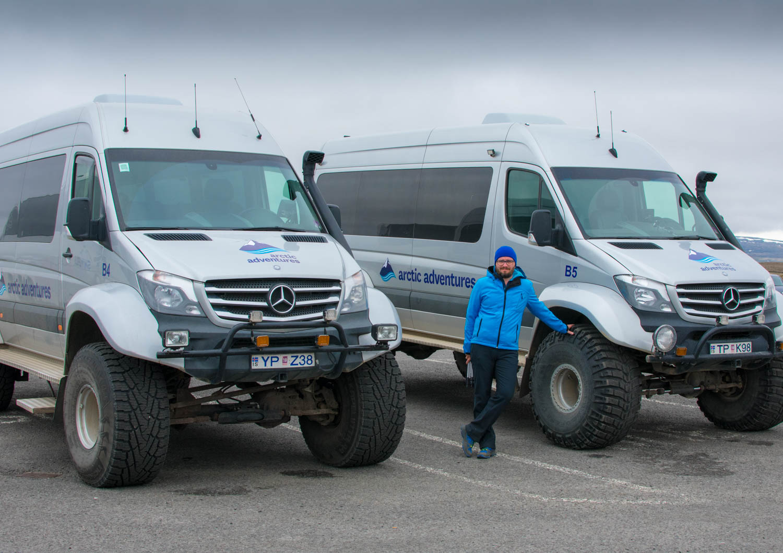 Big wheels trucks in Islanda parking