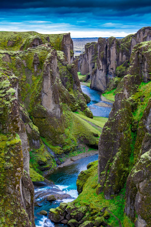 Fjaðrárgljúfur Canyon Islanda