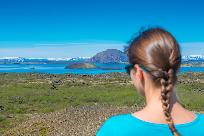 Mivatn Lake view Skutustadir Islanda