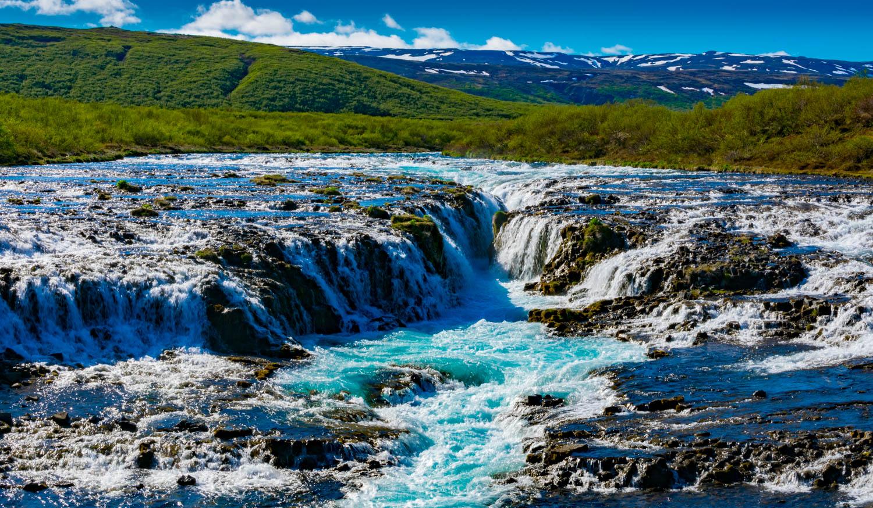 Bruarfoss Waterfall Islanda
