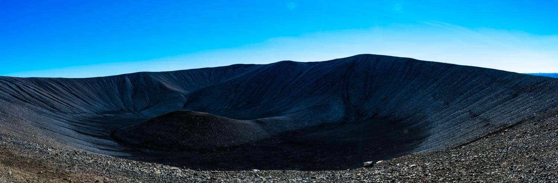 Hverfjall crater black sand Islanda
