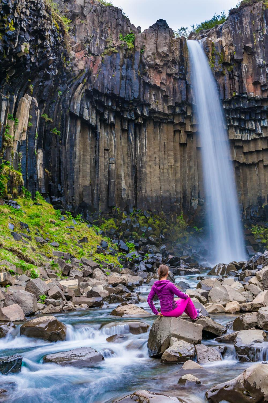 Svartifoss Waterfall Islanda