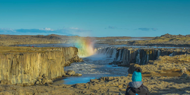 Selfoss Waterfall Islanda Rainbow