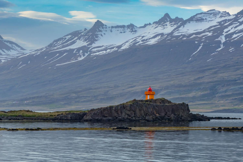 Djúpivogur Lighthouse Islanda Beautiful View