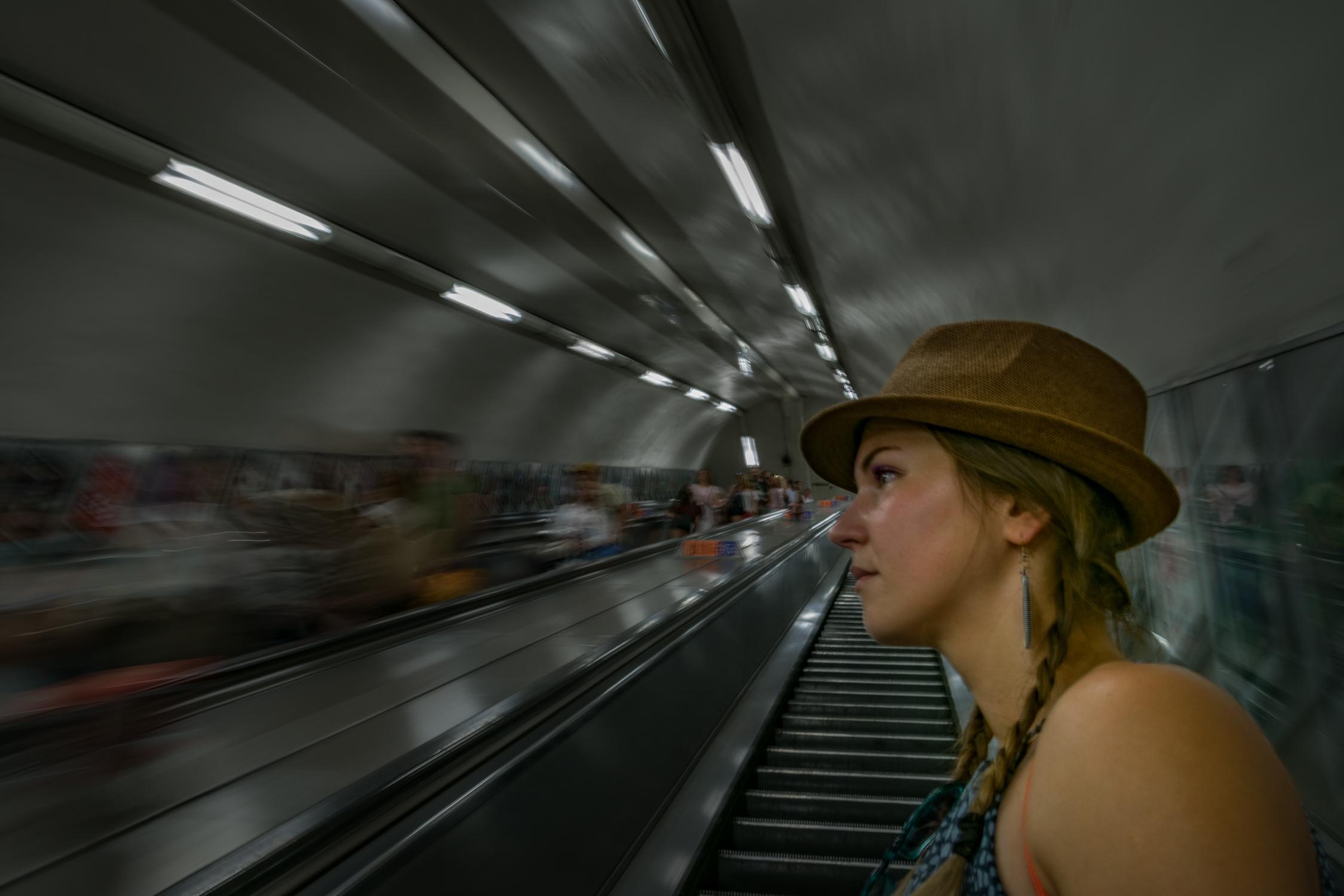 Tube stairs Londra