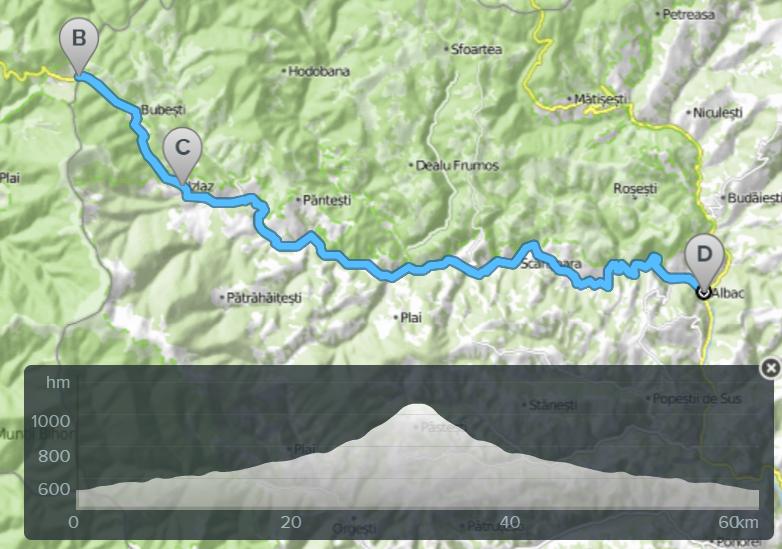 bicicleta traseu albac valea arieseului romania