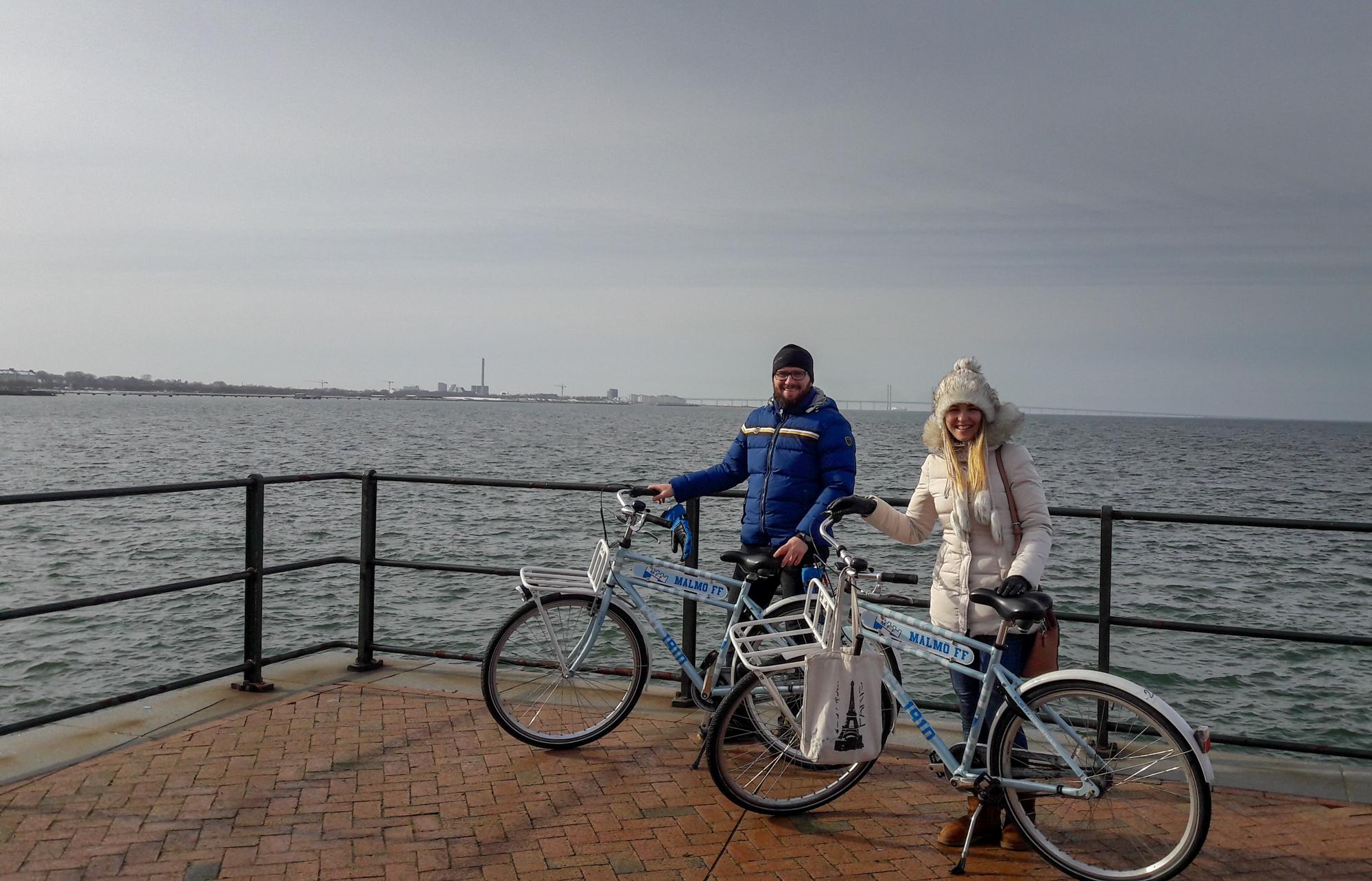 Malmö bicicleta iarna