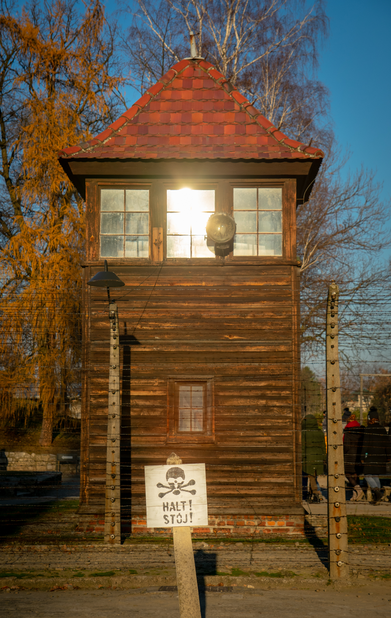 Auschwitz watch tower