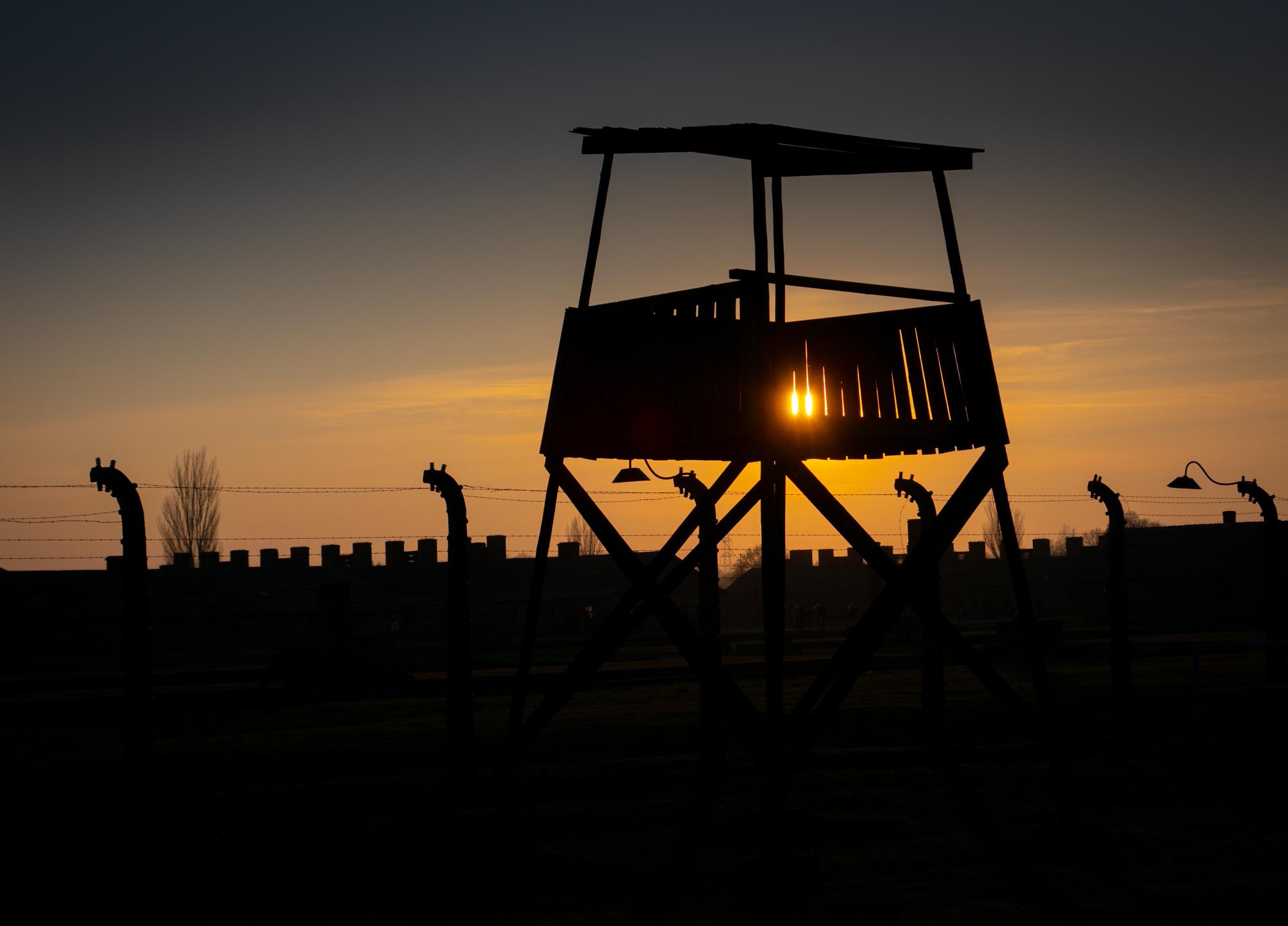 Auschwitz-Birkenau tower