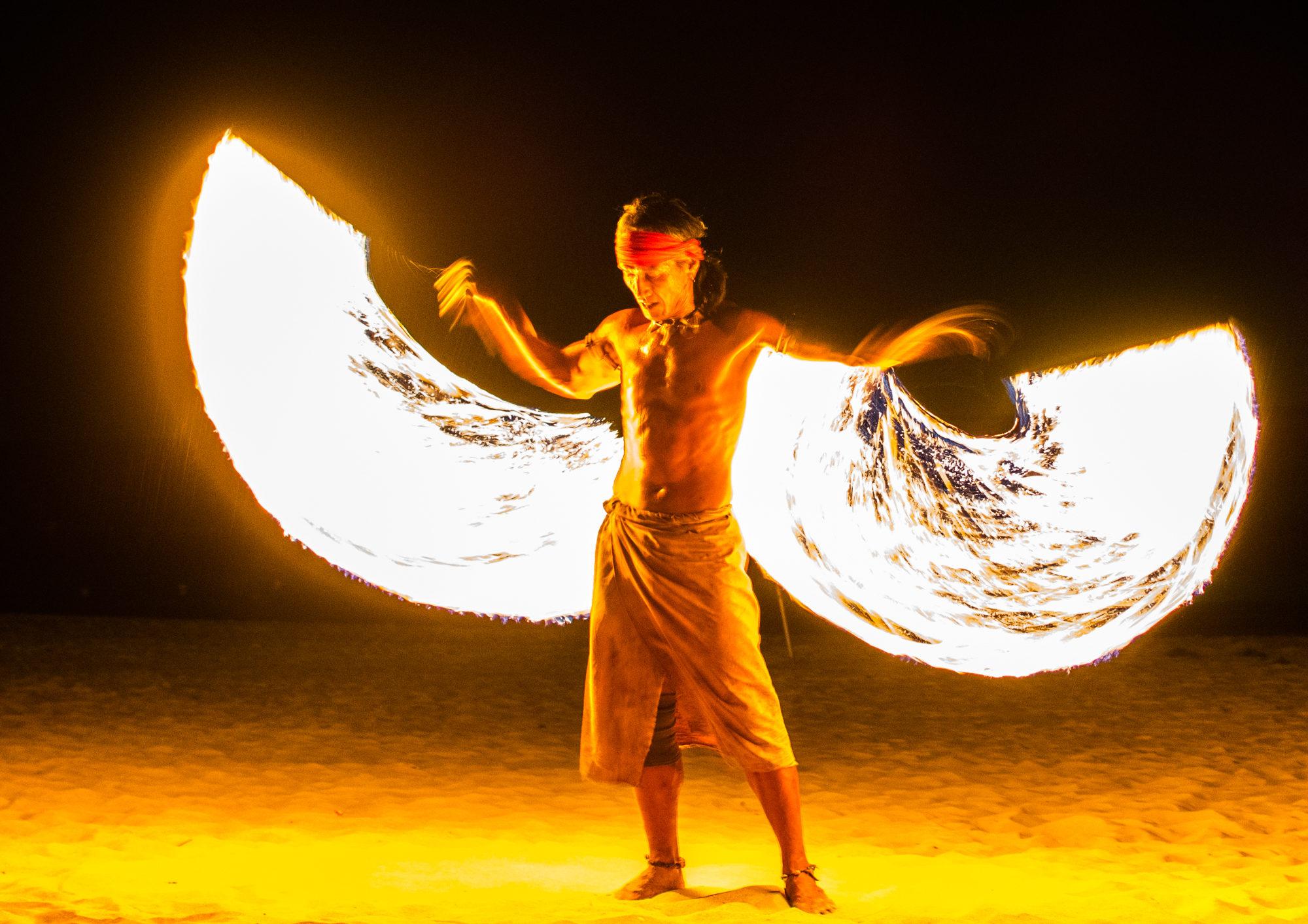 thailand koh lanta fire show