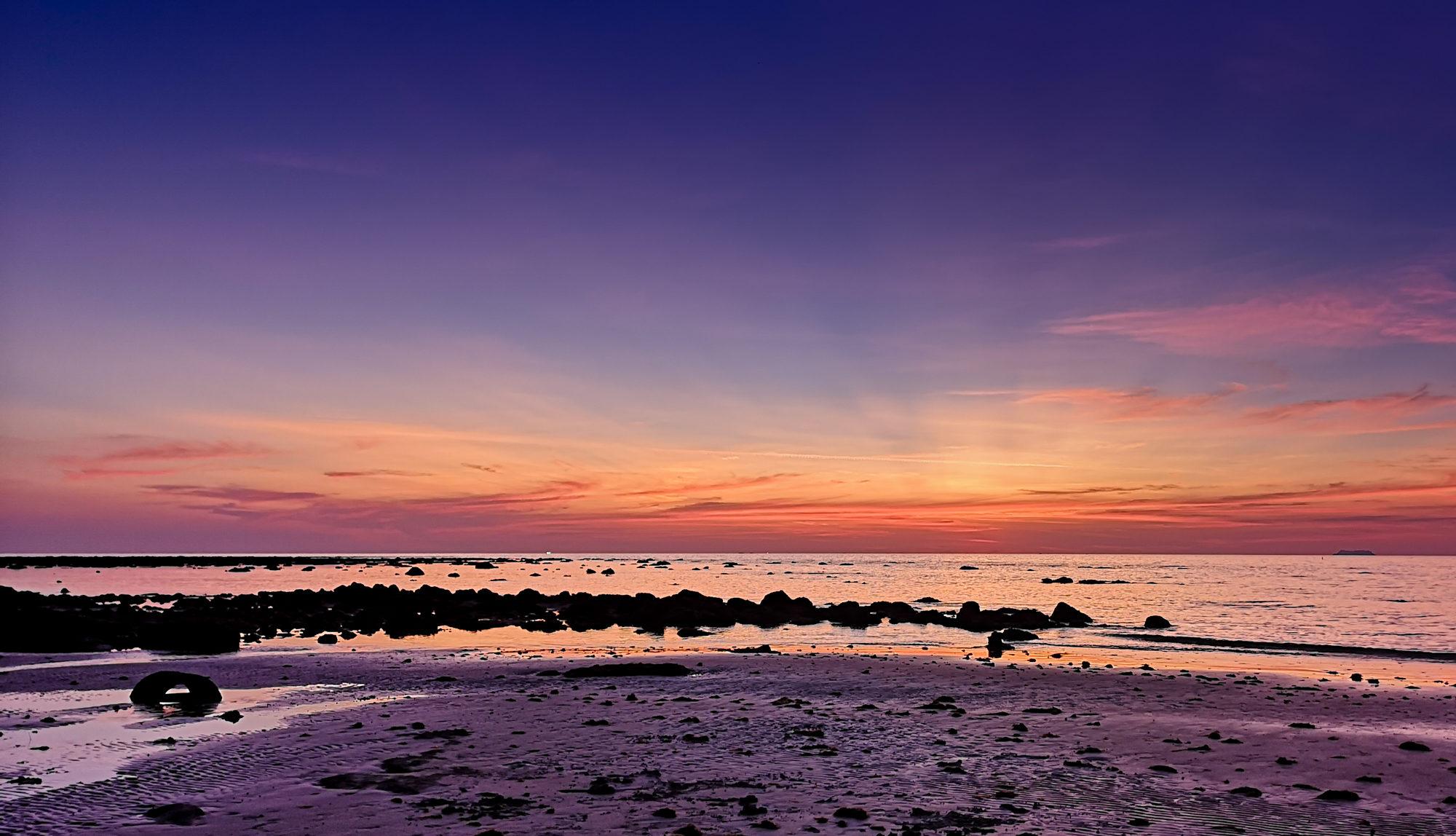 thailand koh lanta purple sunset