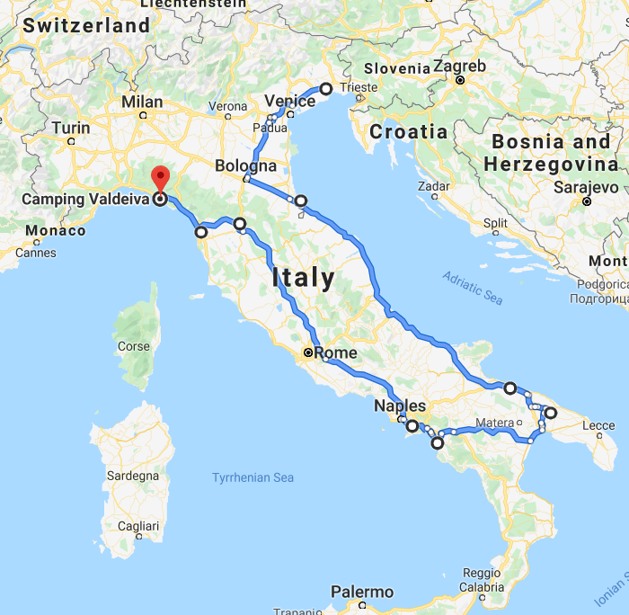 traseu italia cinque terre