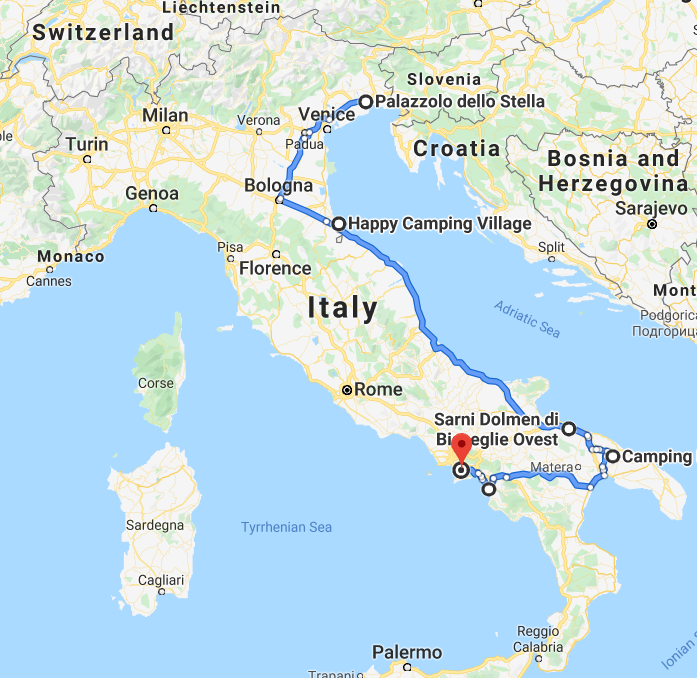 italia traseu pompeii